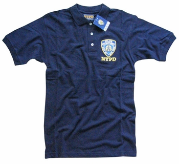 Nypd polo golf shirt new york city police department for Embroidered police polo shirts