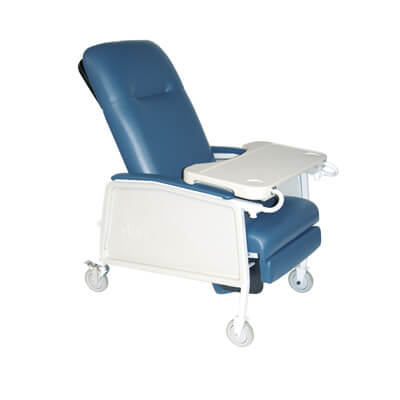 Drive Medical 3 Position Heavy Duty Bariatric Blue Ridge Geri Chair Recliner d574ew-br