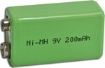 9V Rechargeable Battery NI-MH 200mAh 9 volt
