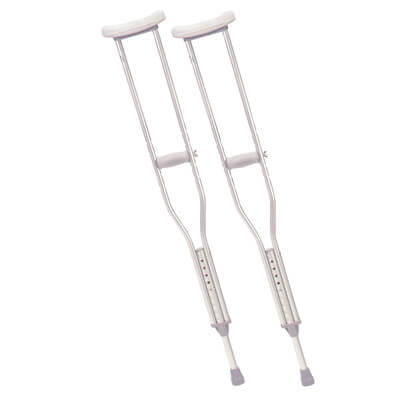 Drive Medical Adult Walking Crutches with Underarm Pad and Handgrip rtl10400