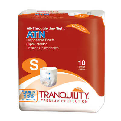 All-Through-the-Night ATN Disposable Briefs - Small - 2184
