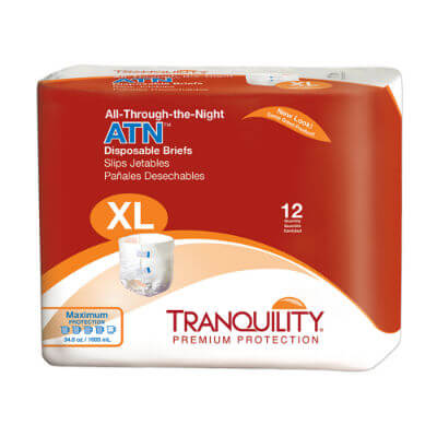 All-Through-the-Night ATN Disposable Briefs - X-Large - 2187