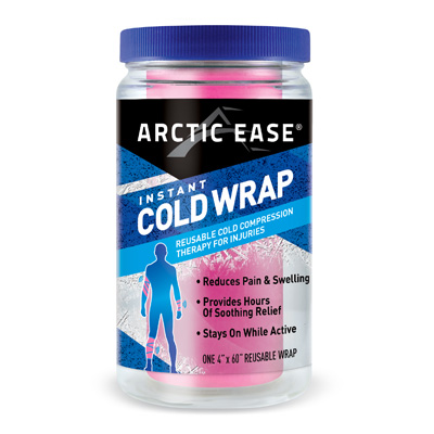 Arctic Ease Instant Cold Wrap Large Pink 4 x 60 in