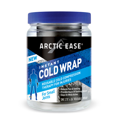 Arctic Ease Instant Cold Wrap Small Black 2.75 x 36 in