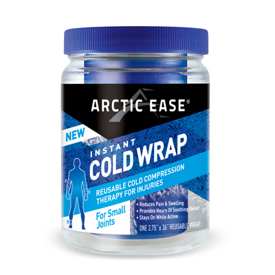 Arctic Ease Instant Cold Wrap Small Blue 2.75 x 36 in