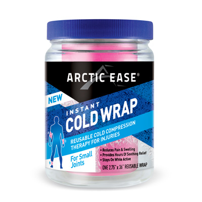Arctic Ease Instant Cold Wrap Small Pink 2.75 x 36 in