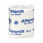 Attends Dry Wipes 10x13""