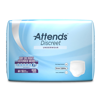 Attends Overnight Protective Underwear  - Med - APPNT20 - 64/cs