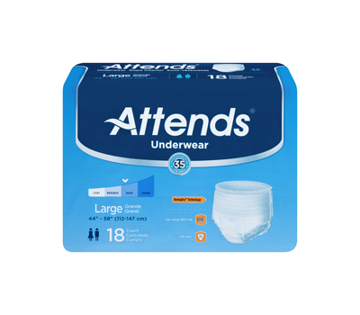 Attends Underwear Extra Absorbency - Lrg, HHC - AP0730100 - 100/cs
