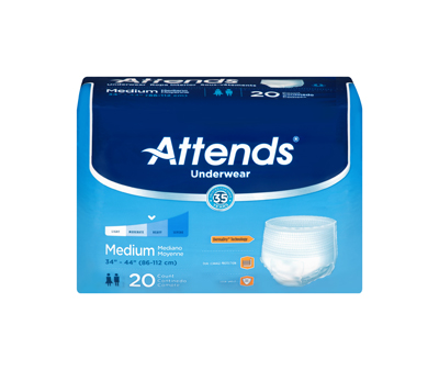 Attends Underwear Extra Absorbency - Med - AP0720 - 80/cs