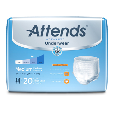 Attends Underwear Super Plus with Leakage Barriers - Med - APP0720 - 80/cs
