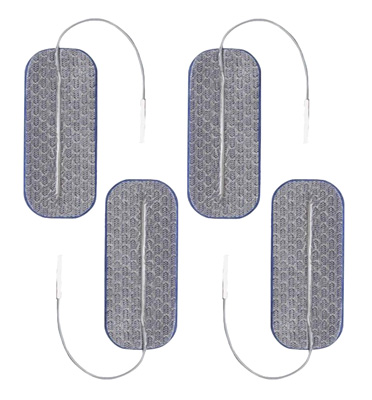 Axelgaard PALS Blue 1.5 x 3.5 in Rectangle Silver Electrodes - 4 Pads