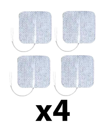 Axelgaard UltraStim 2x2 in Square Silver Grid Electrodes 16 Pads