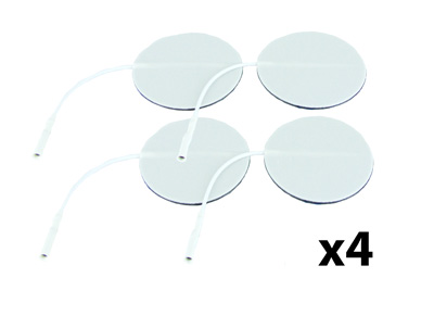 Axelgaard Valutrode 2 in Round White Foam Backed - 16 Pads