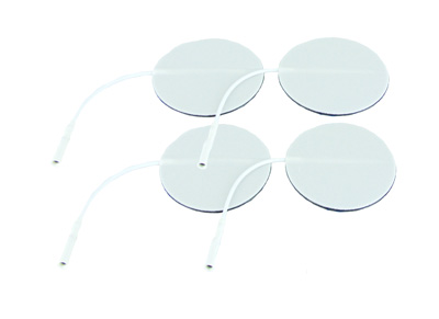 Axelgaard Valutrode 2 in Round White Foam Backed - 4 Pads