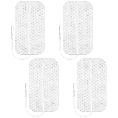 Axelgaard Valutrode 2 x 3.5 in Square White Fabric Backed -  CF5090 4 Pads