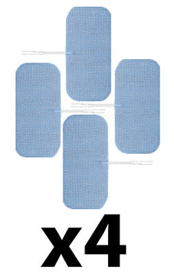 Axelgaard ValuTrode Lite 1.8 x 3.8 in Rectangle Carbon Electrodes - 16 Pads