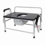 Drive Medical Bariatric Drop Arm Bedside Commode Seat 11132-1