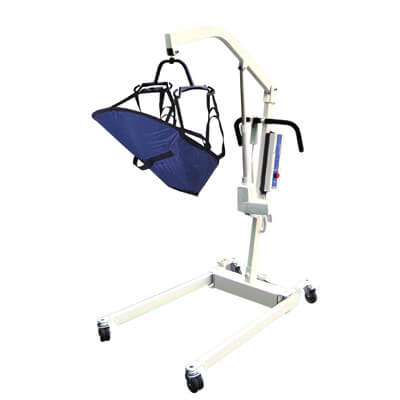 Drive Medical Bariatric Electric Patient Lift with Rechargeable Battery and Four Point Cradle 13244