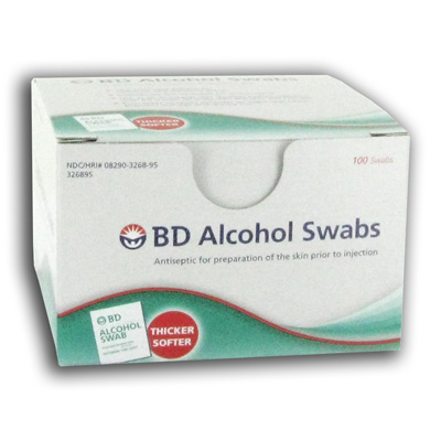 BD Alcohol Swabs - 100 Pads