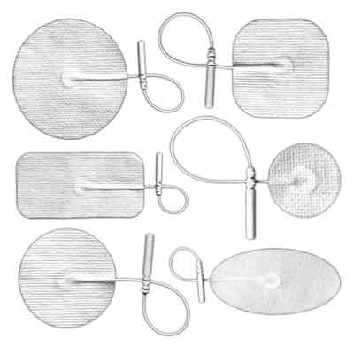 BioTENS (Formerly Bio-Flex) Premium TENS White Mesh Backed Silver Electrodes - Sample Pack of Assorted Sizes