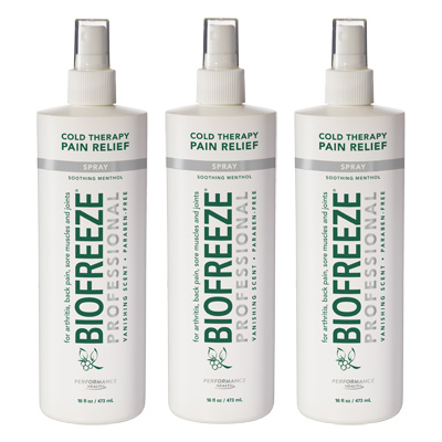 Biofreeze Professional Pain Relieving Gel, Spray - 16 oz - 3 Pack