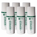 Biofreeze Professional Pain Relieving Gel, Green Roll-On - 3 oz - 6 Pack
