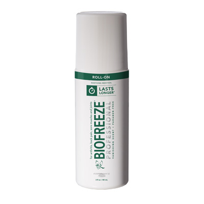 Biofreeze Professional Pain Relieving Gel, Green Roll-On - 3 oz Expires Aug 2018