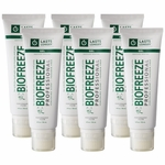 Biofreeze Professional Pain Relieving Gel, Hands Free Tube - 4 oz- 6 Pack