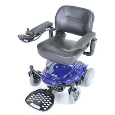 Drive Medical Blue Cobalt Travel Power Wheelchair cobaltbl16fs