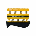 CanDo Digi-Flex Hand/Finger Exerciser - Yellow - 1.5 lbs - 10-0740 - 3 packs