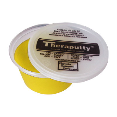 CanDo Theraputty Hand Exercising Putty - Yellow - 2oz 10-0900 - 12 packs