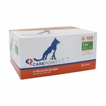 CarePoint Vet U-100 Syringes - 29 G 1 cc 1/2 in