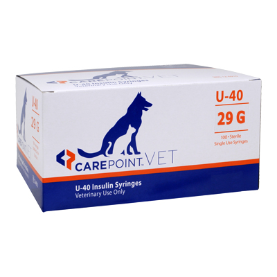 CarePoint Vet U-40 Insulin Sryinges 29 Gauge