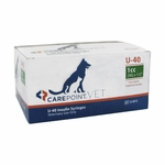 CarePoint Vet U-40 Insulin Syringes - 29 G, 1 cc 1/2 in