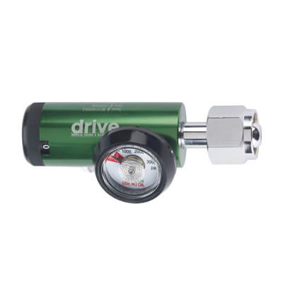 Drive Medical CGA 540 Mini Oxygen Regulator 0-15 LPM DISS Outlet 18304gmn