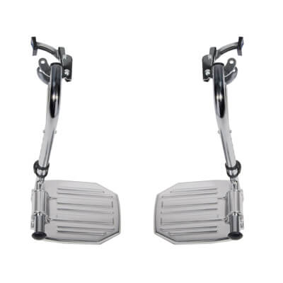 Drive Medical Chrome Swing Away Footrests with Aluminum Footplates stdsf-tf