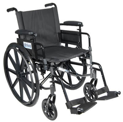 Drive Medical Cirrus IV Lightweight Dual Axle Wheelchair with Adjustable Arms, Detachable Desk Arms, Swing Away Footrests, 16 in Seat