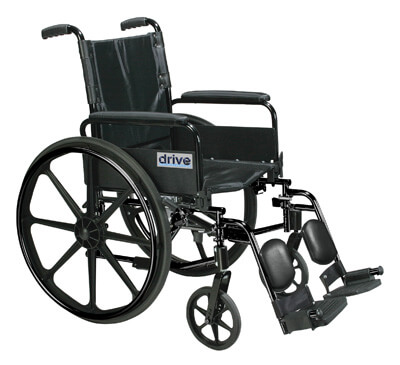 Drive Medical Cirrus IV Lightweight Dual Axle Wheelchair with Adjustable Arms, Detachable Full Arms, Elevating Leg Rests, 20 in Seat