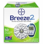 Clearance Bayer Breeze 2 Disc Test Strips - 50 Strips Expires 3/2017
