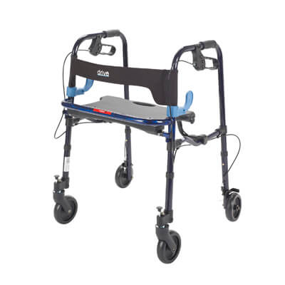 Drive Medical Clever Lite Flame Blue Junior Rollator Walker with 5 inch Casters 10230j