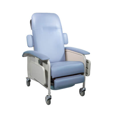 Drive Medical Clinical Care Blue Ridge Geri Chair Recliner d577-br