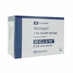Covidien Monoject Insulin 30G 1cc 5/16 (Model 8881601600)