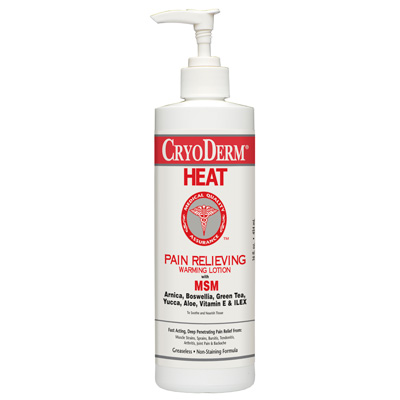 Cryoderm Heat Pain Relieving Warming Lotion 16 oz