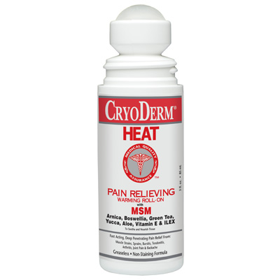 Cryoderm Heat Pain Relief Warming Roll-On 3 oz