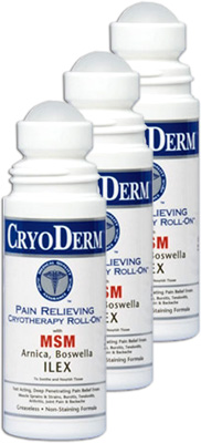 Cryoderm Pain Relief Roll-On - 3 oz (3 Pack)