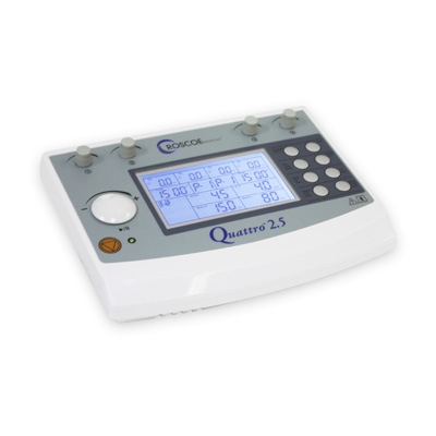 Roscoe Medical Quattro Combo 2.5 4 Channel IF Russian EMS TENS Combo Professional Unit