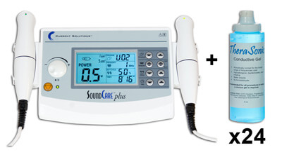 Roscoe Medical Sound Care Plus - Professional Ultrasound with 2 heads - Model DQ9275 plus Starter Kit