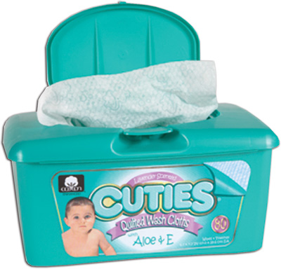 Cuties Quilted Baby Wipes, Lavender Scent - 960 cs (12x80ea)