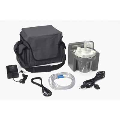 DeVilbiss Healthcare 7305 Series Homecare Suction Unit with Internal Filter, Battery, and Carrying Case 7305p-d